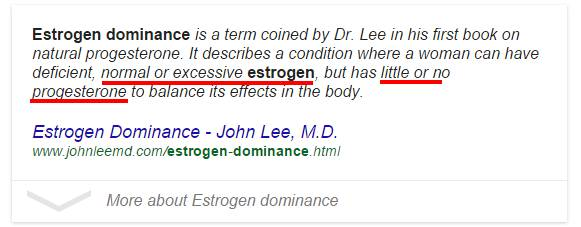 Estrogen Dominance Dr. John Lee