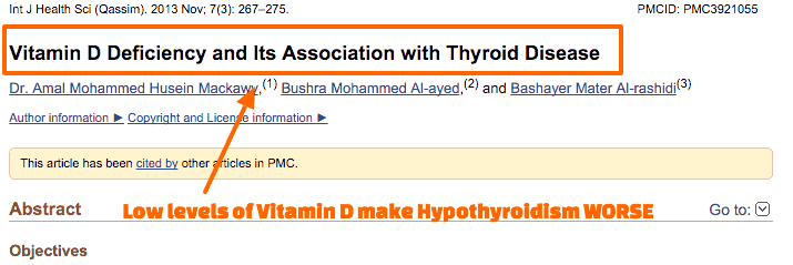 Vitamin D Deficiency and hypothyroidism