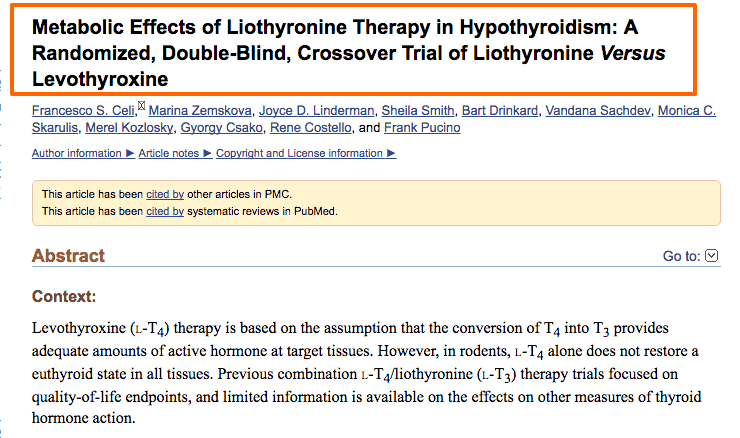 Metabolic effects of Liothyronine and cytomel