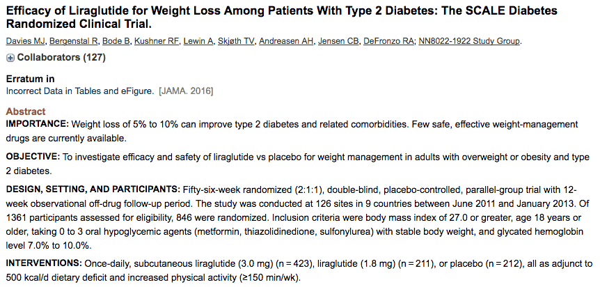 Victoza and weight loss in diabetics