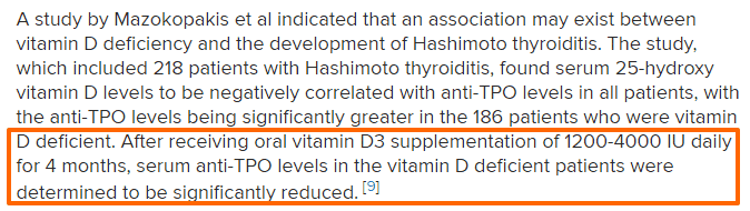 vitamin D and autoimmune thyroiditis