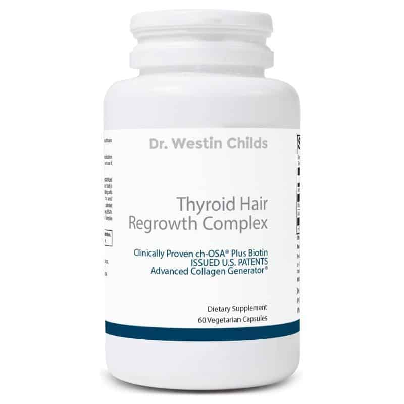 Thyroid hair regrowth complex updated bottle image