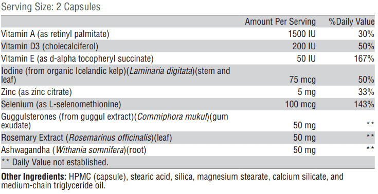 T3 conversion booster full ingredient list
