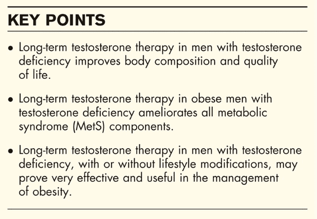 benefits of testosterone replacement therapy in men