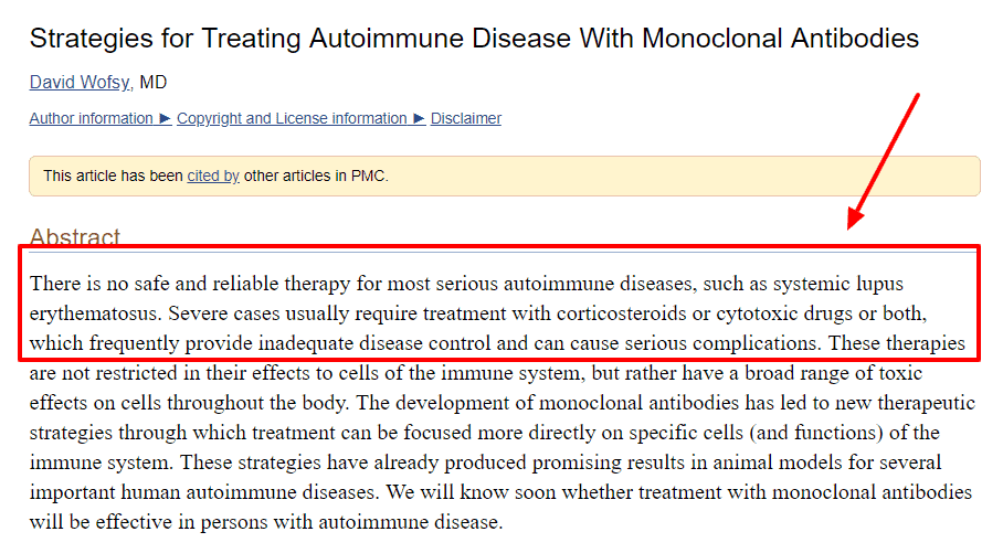 standard treatment for autoimmune diseases