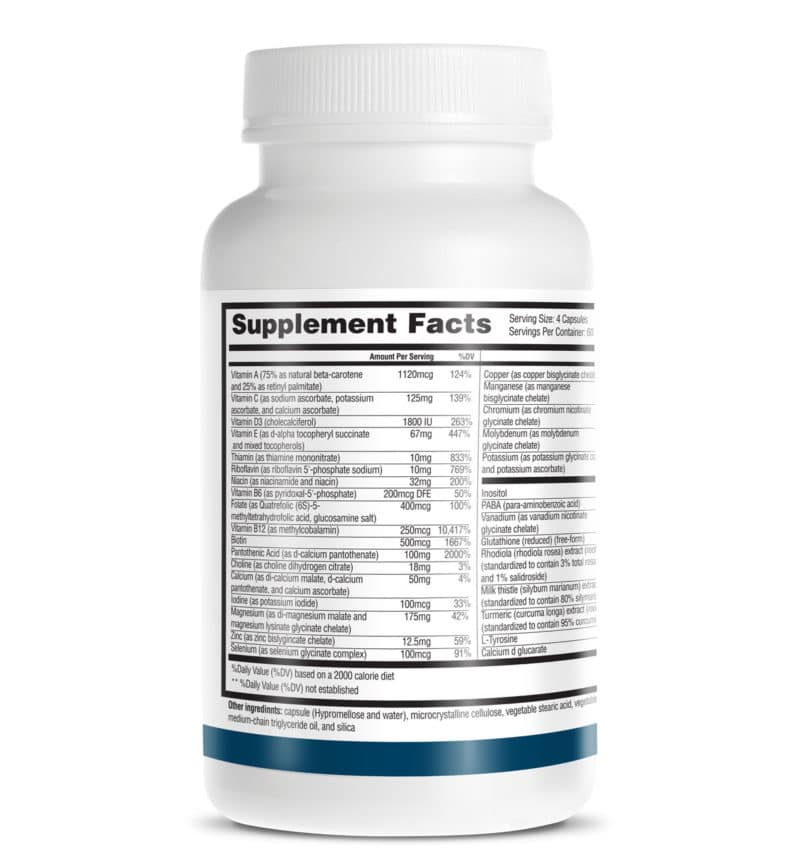 thyroid daily essentials nutrition facts