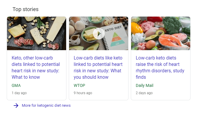 ketogenic diet in the news