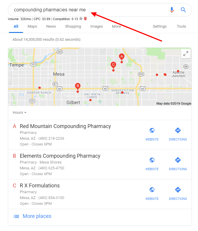 how to search for compounding pharmacies