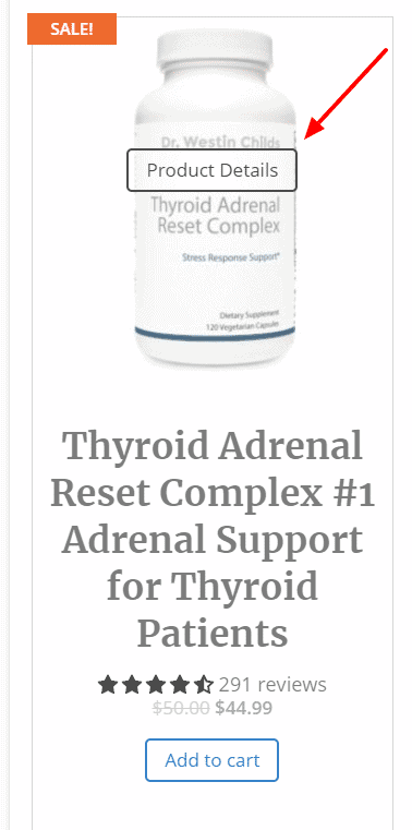 thyroid adrenal reset complex product details