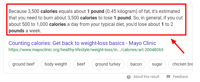 1 pound is of fat mass is equal to 3500 calories