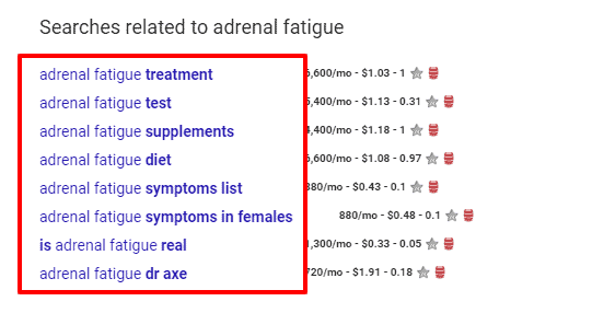 adrenal fatigue google results bottom of the page