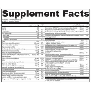 functional fuel detox supplement facts and full ingredient list