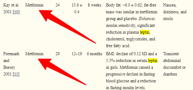 leptin resistance and metformin