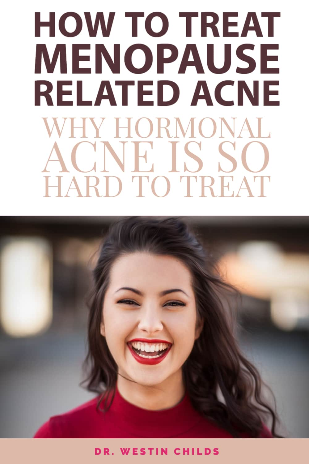 how to treat menopause related acne