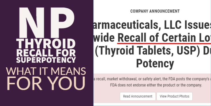 NP thyroid recall for superpotency