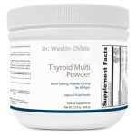 Thyroid multi powder front bottle image