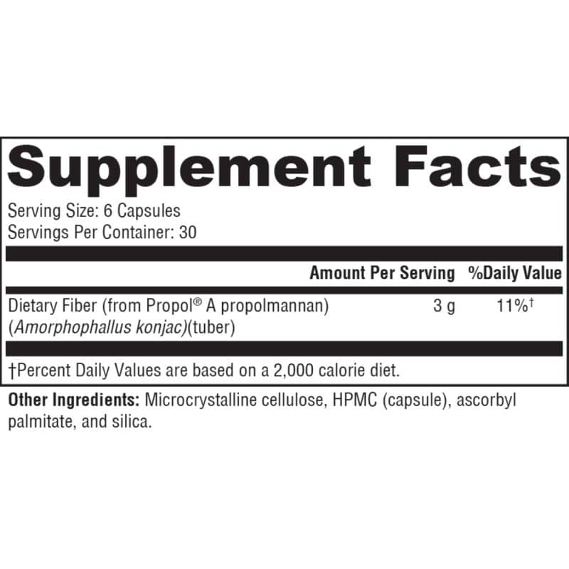 glucoslow fiber nutrition facts