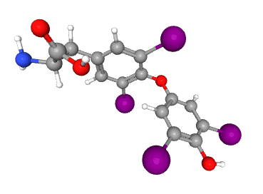 thyroxine chemical structure